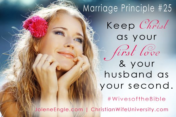 Marriage principle from the life of the Bride of Christ (the 7 churches in Revelation).