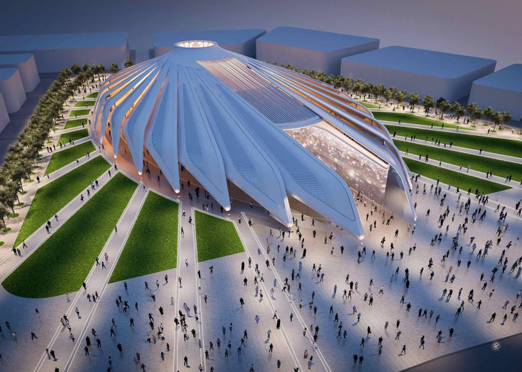 Unveiled design for central hub: Dubai Expo 202