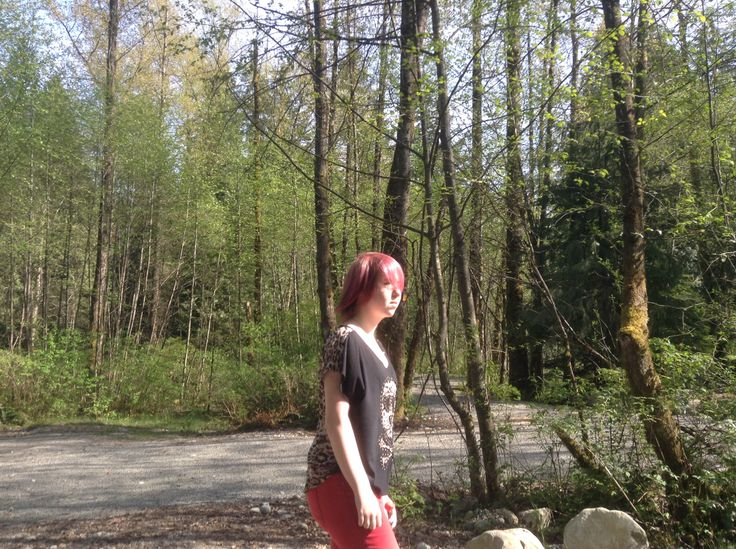 My daughter, Taryn we want for a walk along the creek with friends