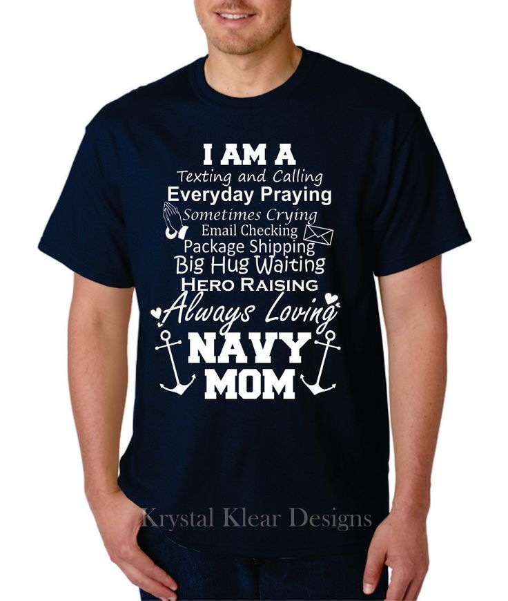 Navy Mom, Short Sleeve, Navy blue T-shirt by KKDcustomized on Etsy