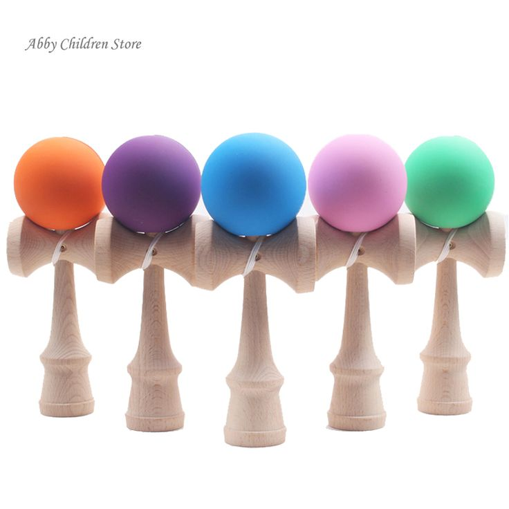 Rubber Matte Kendama Toy Wooden Ball Japanese Skillful Traditional Game Juggling Ball Toys for Children Adult Christmas Gift Toy
