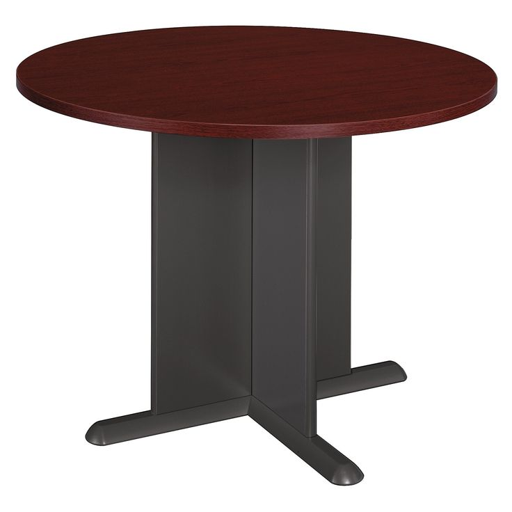 Bush Business Furniture Series C 42 Inch Round Conference Table in Mahogany