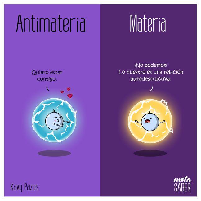 mola saber, antimateria