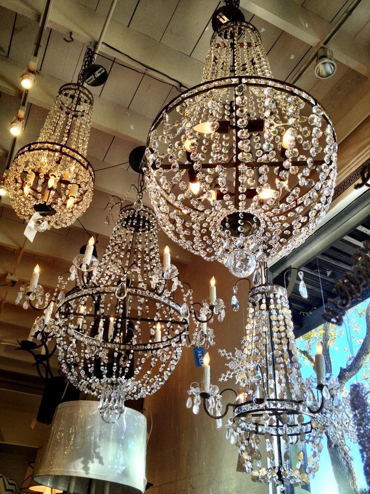 Custom crystal chandeliers Boxwood Interiors Houston Texas