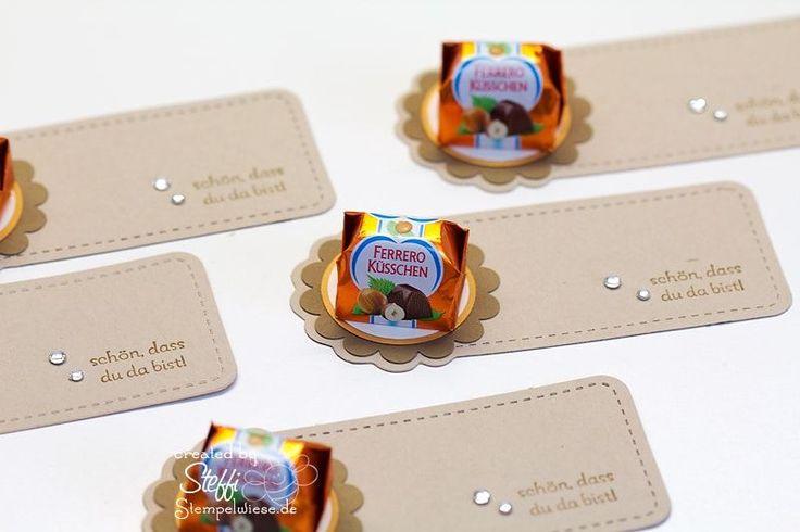 Kleine Goodies mit Ferrero Küsschen Stempelwiese • Heute nur was kleines kreatives, da ich nicht viel geschafft habe noch vorzubasteln. Sorry! Diese Goodies hatte ich zum Geburtstag von meinem Lieblingsmens