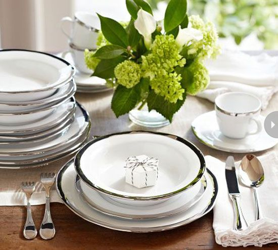Find that perfect wedding present with these classic, never-fail gift ideas ~ Fine dinnerware.  Another tried, tested and true wedding gift is either fine china or fancy dinnerware that the newlyweds can whip out on special occasions and for entertaining. Opt for a classic style that will serve them well for a lifetime.