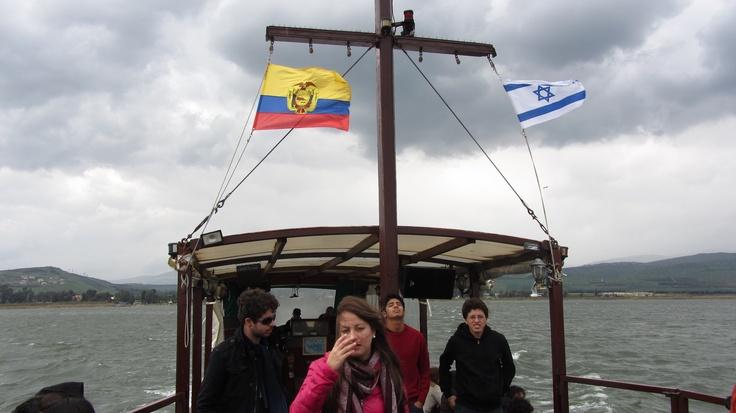 Uno de los momentos emotivos fue el viaje en barco por el mar de Galilea, que en realidad no es mar sino se trata de un lago, en esa embarcación se escuchó el himno a Ecuador. La bandera ecuatoriana flameó junto a la de Israel.