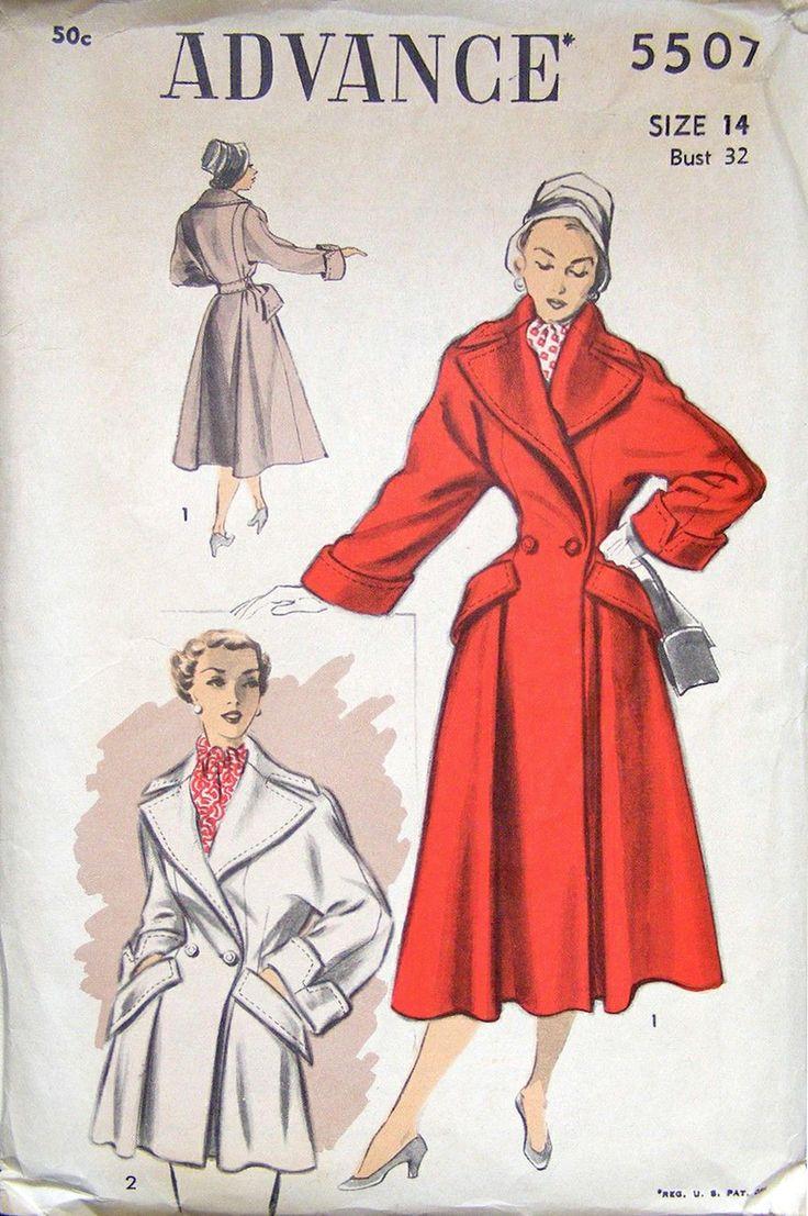 Advance 5507 (1950):         BACK  /missycuddlz/vintage-sewing-patterns/