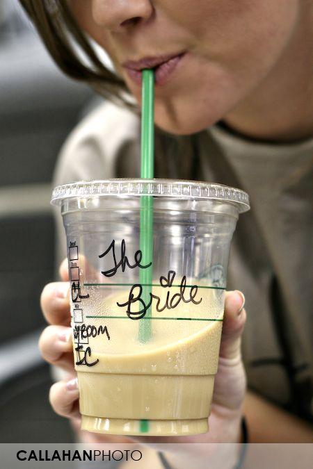 cute!: Ideas, Starbucks Drinks, Remember This, Weddings, Wedding Day, The Bride, Free Starbucks, My Wedding, Big Day