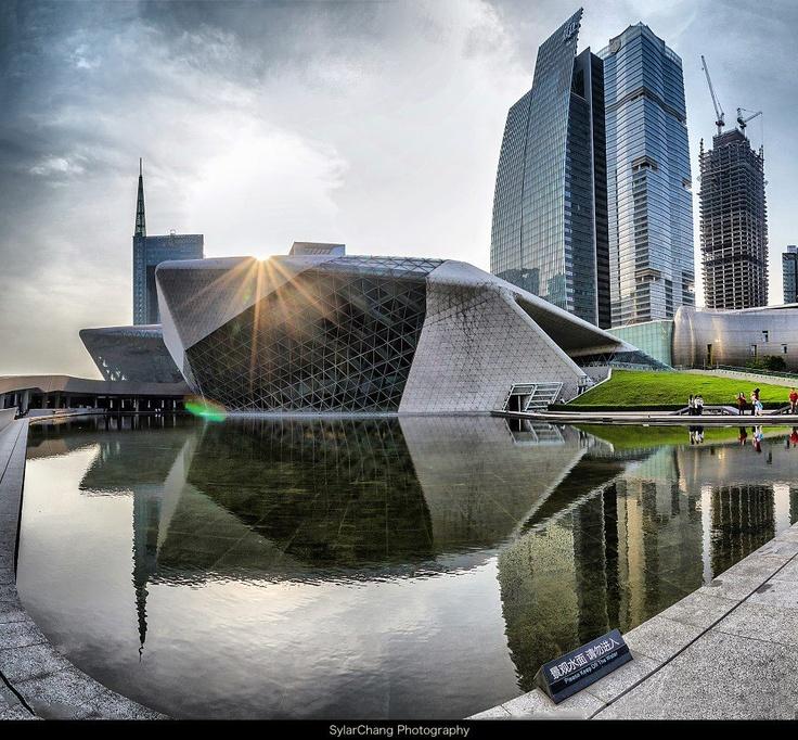 Guangzhou opera house zaha hadid z h a pinterest for Parametric architecture zaha hadid