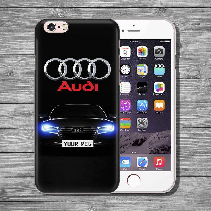 Audi logo CUSTOM REG PLATE THIN TPU case cover iPhone 4 5c 5s SE 6 6s 7 8 plus+