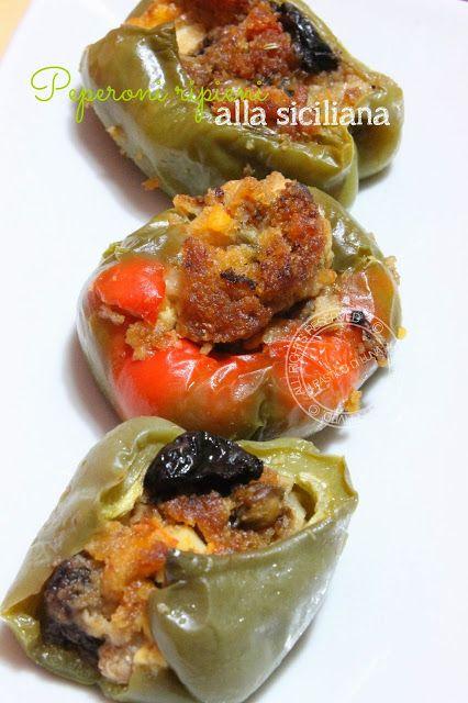 Recipe for sicilian stuffed peppers