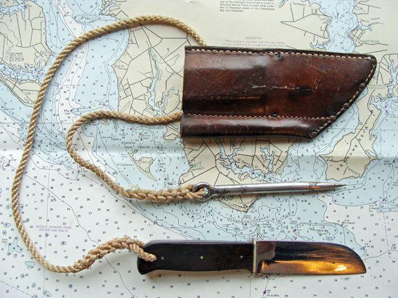 Ka Bar Sailors Rigging Knife And Marlin Spike With Sheath