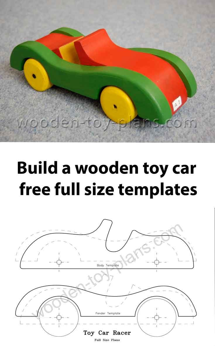 wooden toy racing car plans full size templates #wooden toy