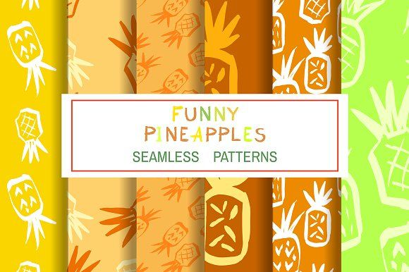 Funny pineapples by TATIANA_GERICH on @creativemarket