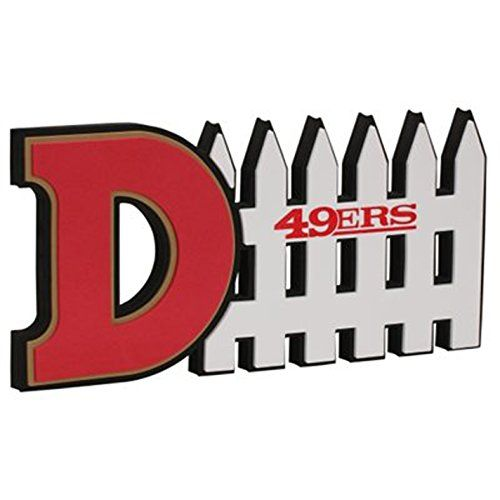 NFL San Francisco 49Ers 3D Foam D-Fence Sign, Red http://
