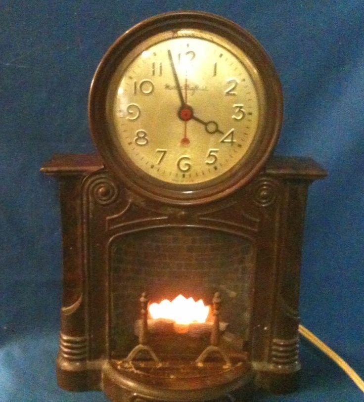 Vintage Mastercrafters Fireplace Electric Motion Lamp Mantel Clock Model 272 Models Mantels