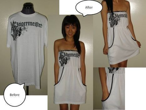 T-shirt into dress. I want to do this with a BGI shirt!