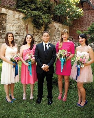 """See the """"Do the number of bridesmaids and groomsmen have to match?"""" in our  gallery"""