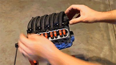 This 3D-Printed V8 Engine Works Just Like the Real Thing With the plans, you can print one too.