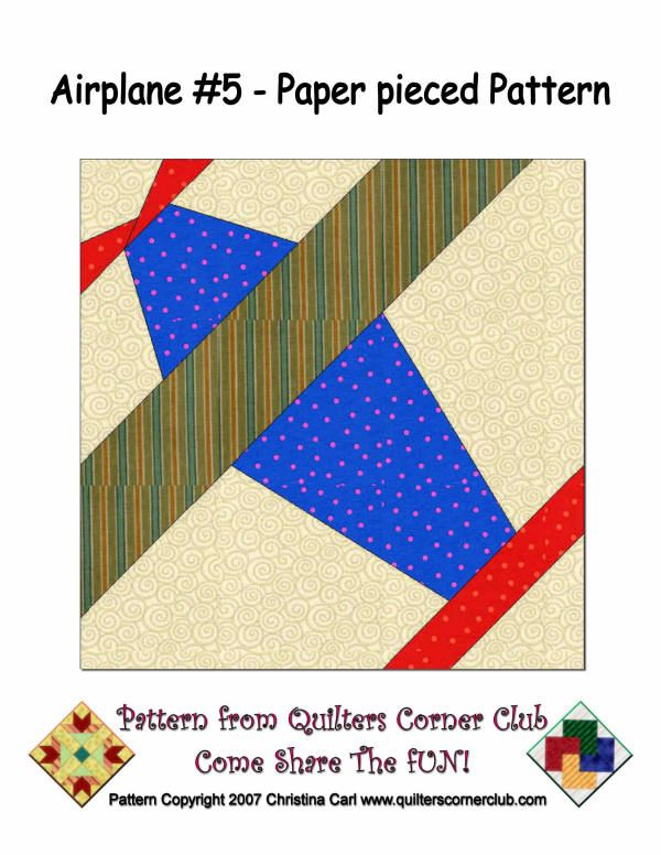 Lots of free paper Piecing airplanes and more Quilt Blocks - Paper Piecing Pinterest Quilt ...