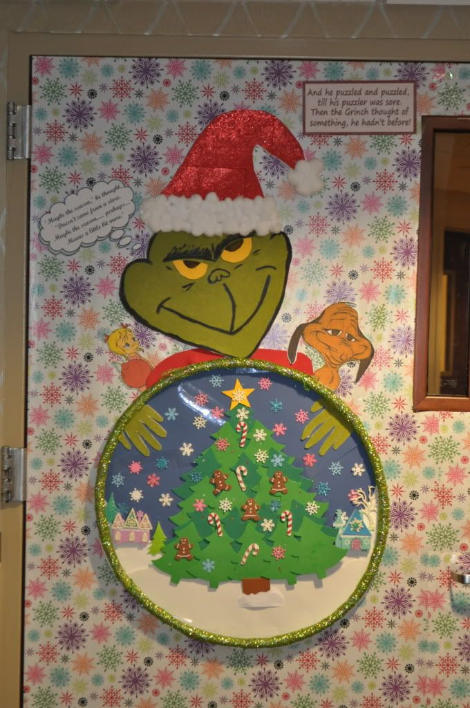Christmas Door Decorating Ideas Snow Globe : School hallways christmas decorating contest none nicole