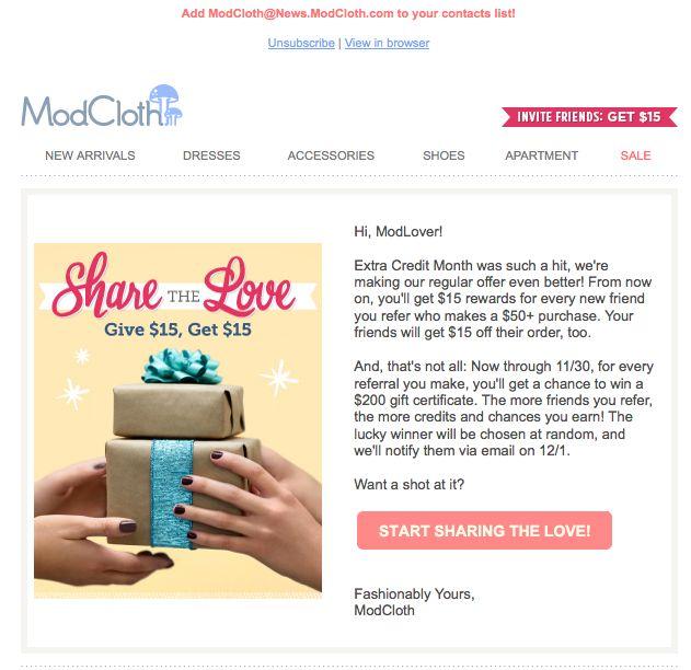 8 best Refer-A-Friend Email Inspiration images on Pinterest Blog - sample email marketing