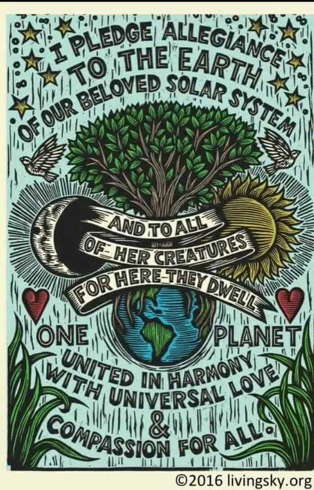 Lovely lino print looking eco poster!