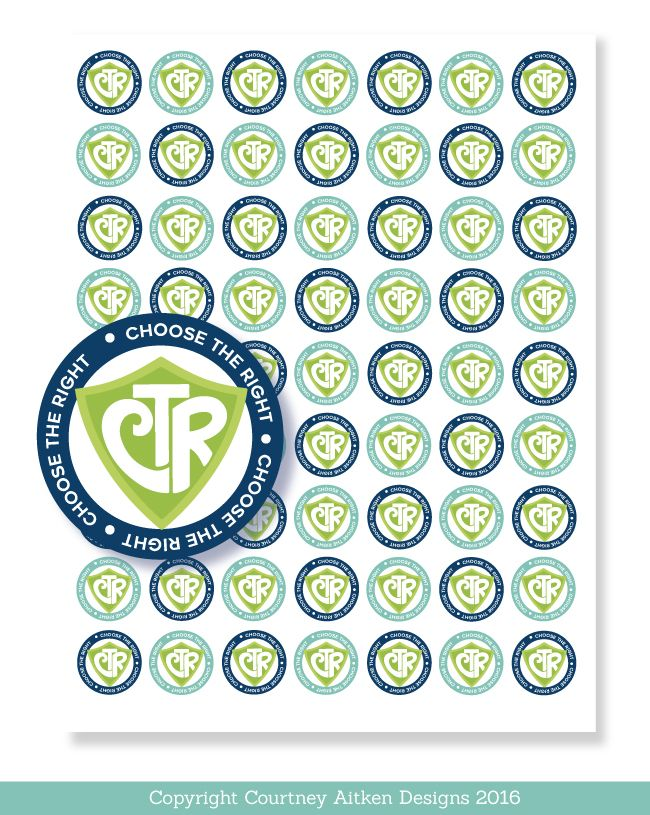 2017 Primary Theme Stickers! CTR 1 inch Circles. Perfect for the primary this year!