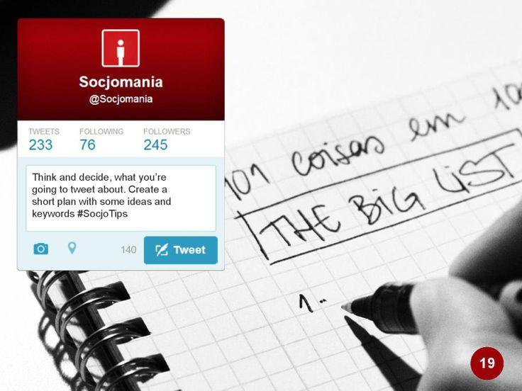 50 Twitter Tips (19). Full presentation: https://www.slideshare.net/Socjomania/the-ultimate-guide-to-twitter-50-useful-tips  #Twitter #TwitterTips #SocialMedia #SocialMediaTips