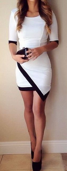 Asymmetrical Bodycon Dress //