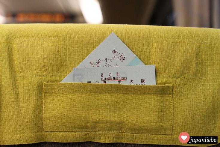 Eine Tasche fürs Shinkansen-Ticket