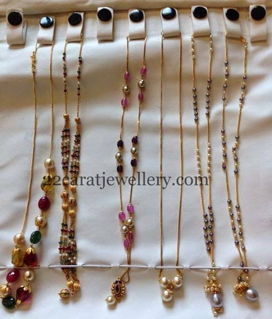 Jewellery Designs: Simple Chains 50000 Rupees Each