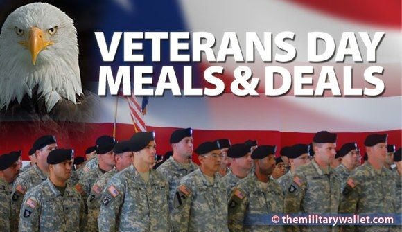 Comprehensive list of Veterans Day Free Meals and Discounts. Thank a Veteran!