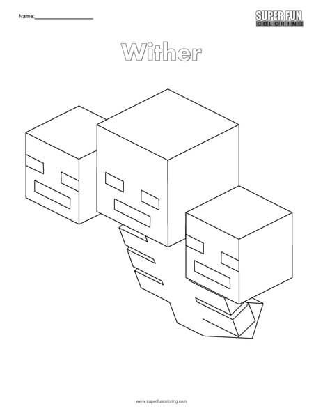 Wither Minecraft Coloring Pages Minecraft Coloring Pages Coloring Pages Printable Coloring Pages