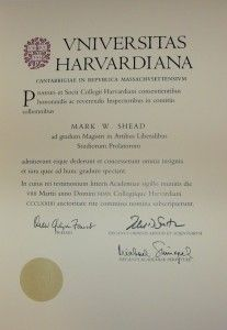 Master thesis harvard university