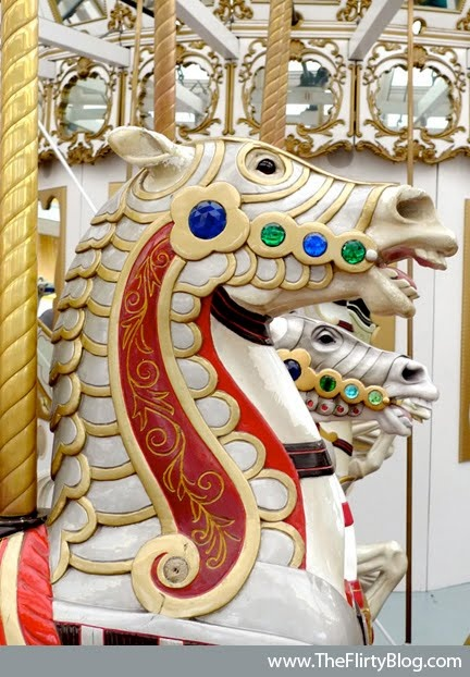 The Flirty Blog: San Francisco's Beautiful Looff Carousel Horses