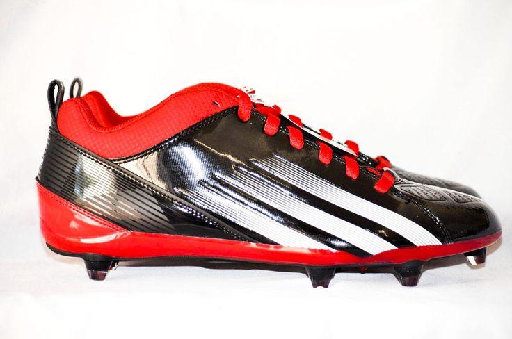 Adidas Lightning D 5/8 Men Football Cleats Red Black White size 10.5 D NEW #adidas #FootballCleats