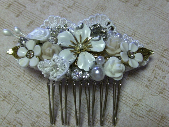 Bridal haircomb collage free shipping to us by loislovesdesigning 48