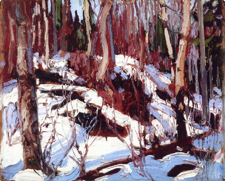 Winter Thaw in the Woods (Tom Thomson c. 1916)