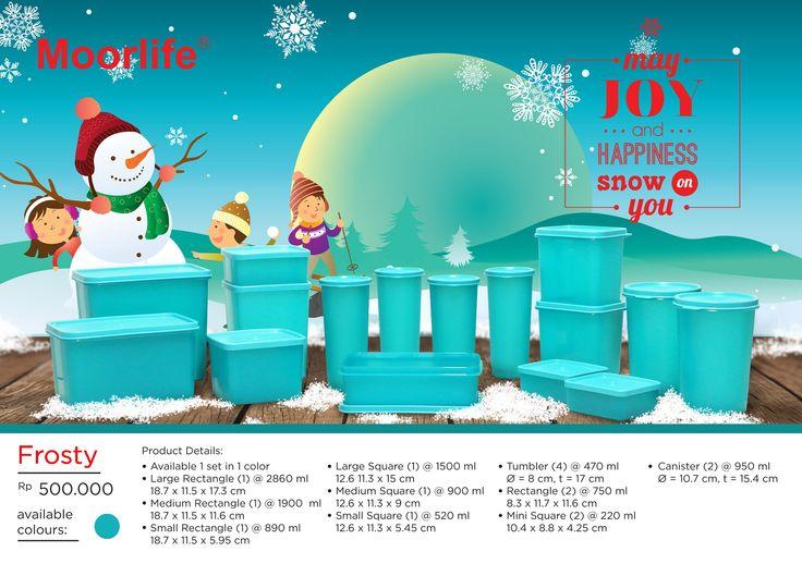 Moorlife Frosty Rp.500.000,- 1 set terdiri dari 16 pcs yang berbeda, kombinasi produk dapat dilihat di gambar