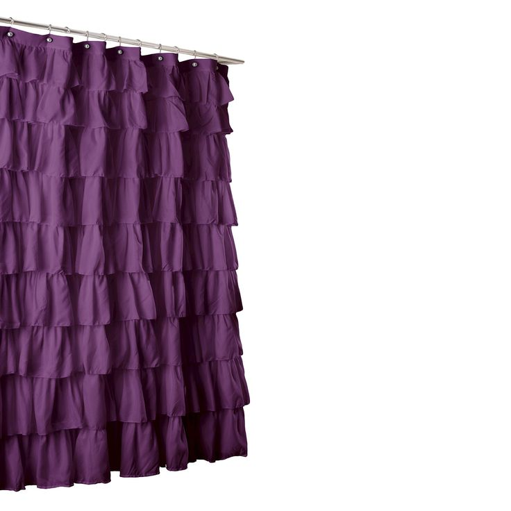 Lush Du0026 Large Ruffle Shower Curtain   Purple
