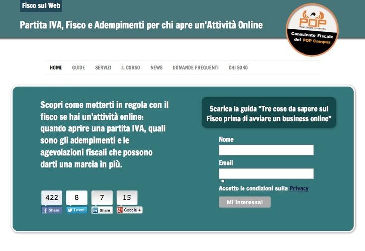 Fisco sul web - Partita IVA, Fisco e Adempimenti per chi apre un'Attività Online -  http://www.fiscosulweb.it/