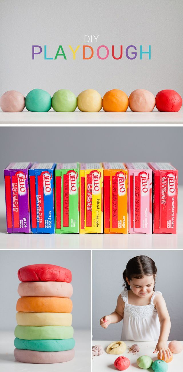 how to make jello playdough without cooking