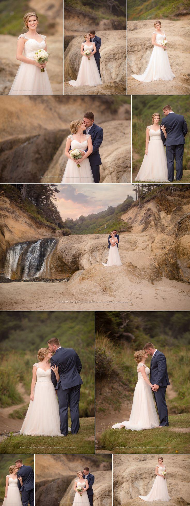 Oregon Coast Wedding Photography Hug Point After Wedding