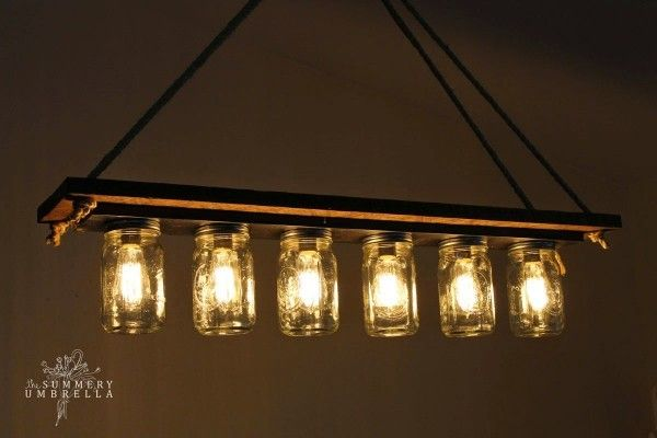 upcycle it! a bath vanity fixture becomes a mason jar chandy - The Snug