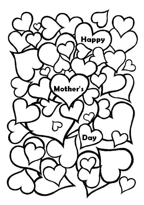 Mother 39 s day hearts Color Me