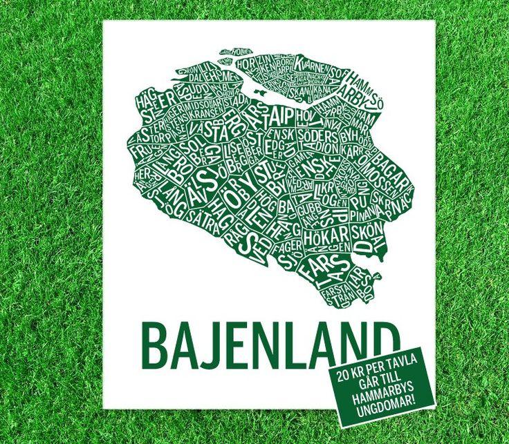 Display av print med Bajenland