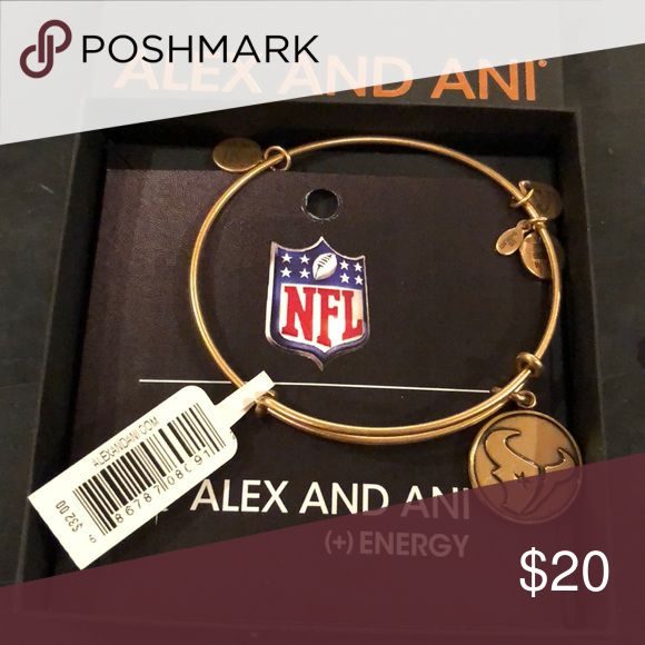 Alex and Ani NFL Houston Texans bracelet-NWT Brand new Alex and Ani Russian gold NFL Houston Texans bracelet. Comes with card and box as shown. Alex and Ani Jewelry Bracelets