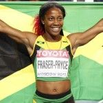 Shelly-Ann Fraser-Pryce earns historic sprint double in Moscow